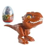 4 PCS Children Fun Doll Bite Finger Dinosaur Small Toys Simulation Tyrannosaurus Toys, Colour: Light Brown-Egg