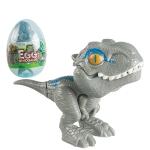 4 PCS Children Fun Doll Bite Finger Dinosaur Small Toys Simulation Tyrannosaurus Toys, Colour: Gray-Egg