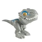 4 PCS Children Fun Doll Bite Finger Dinosaur Small Toys Simulation Tyrannosaurus Toys, Colour: Gray-OPP Bag