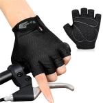 WEST BIKING YP0211218 Cycling Breathable Short Gloves Non-Slip Half Finger Gloves, Size: L(Black)