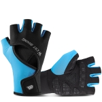 WEST BIKING YP0211217 Cycling Breathable Silicone Palm Gloves Fitness Training Wrist Guard Sports Gloves, Size: L(Black Blue)