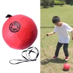 Children Training Football with Detachable Rope(No. 3 Gore Pattern Red)