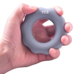 2 PCS Silicone Finger Marks Grip Device Finger Exercise Grip Ring, Specification: 95LB (Gray)
