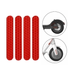 5 PCS Scooter Stickers Reflective Cursor Scooter Mudguard Reflective Sticker For Ninebot Max G30 (Red)