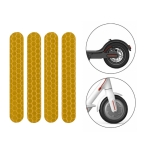 5 PCS Scooter Stickers Reflective Cursor Scooter Mudguard Reflective Sticker For Ninebot Max G30 (Yellow)
