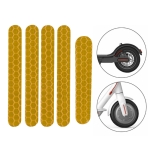 5 PCS Scooter Stickers Reflective Cursor Scooter Mudguard Reflective Sticker For Ninebot ES1 (Yellow)