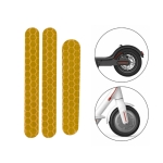 5 PCS Scooter Stickers Reflective Cursor Scooter Mudguard Reflective Sticker For Ninebot ES2 (Yellow)