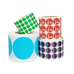 Color High-Viscosity Coated Paper Sticker Round Sticker,Random Color Delivery, Size: Diameter 15mm
