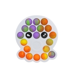 3 PCS Colorful Children Fingers Press The Bubble Toy Tabletop Game Board, Style: Octopus