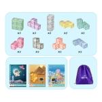 Magnetic Building Blocks Cube Cube Assembling Toys For Children, Colour: Luxury