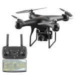 YLR/C S32T 25 Minute Long Battery Life High-Definition Aerial Photography Drone Gesture Remote Control Quadcopter, Colour: 4K Camera Music MV Implant (Black)
