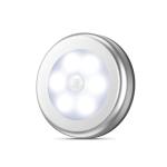 6 LED Home Wardrobe Smart Human Body Sensor Light, Light color: White Light (Silver)
