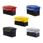 5 PCS FJYS-01 Car Tires Polishing Waxing Oiling Sponge Brush without Cover, Size: 12×5.5x7cm, Random Color Delivery