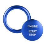 Car Engine Start Key Push Button Ring Trim Sticker Decoration for Mercedes-Benz A-Class 2013-2018 / C-Class 2015-2018 / GLA (Blue)