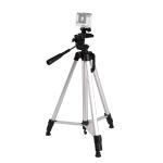 Live Broadcast Tripod 3-Section Folding Legs Aluminum Alloy Tripod Mount with U-Shape Three-Dimensional Tripod Head & Phone Clamp for DSLR & Digital Camera, Adjustable Height: 47.5-133cm