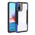 For Xiaomi Redmi Note 10 Pro TPU + PC + Acrylic 3 in 1 Shockproof Protective Case(Blue)