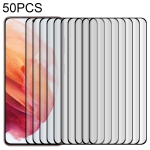 For Samsung Galaxy S21 5G 50 PCS 3D Curved Silk-screen PET Full Coverage Protective Film(Black)