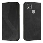 For Xiaomi Redmi 9C Skin Feel Magnetic S-type Solid Color Horizontal Flip Leather Case with Holder & Card Slot & Wallet(Black)