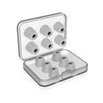6 Pairs New Bee NB-M1 Slow Rebound Memory Foam Ear Caps with Storage Box, Suitable for 5mm-7mm Earphone Plugs(Grey)