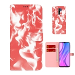 For  Xiaomi Redmi 9 / 9 Prime / Poco M2 Cloud Fog Pattern Horizontal Flip Leather Case with Holder & Card Slot & Wallet(Red)