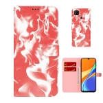 For Xiaomi Redmi 9C Cloud Fog Pattern Horizontal Flip Leather Case with Holder & Card Slot & Wallet(Red)