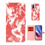 For  Xiaomi Redmi K40 / K40 Pro / Poco F3 Cloud Fog Pattern Horizontal Flip Leather Case with Holder & Card Slot & Wallet(Red)