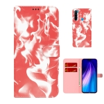 For Xiaomi Redmi Note 8 Cloud Fog Pattern Horizontal Flip Leather Case with Holder & Card Slot & Wallet(Red)