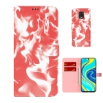 For Xiaomi Redmi Note 9 Pro/Note 9S/Note 9 Pro Max Cloud Fog Pattern Horizontal Flip Leather Case with Holder & Card Slot & Wallet(Red)