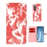 For Xiaomi Mi 10S Cloud Fog Pattern Horizontal Flip Leather Case with Holder & Card Slot & Wallet(Red)