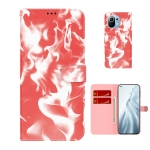 For Xiaomi Mi 11 Cloud Fog Pattern Horizontal Flip Leather Case with Holder & Card Slot & Wallet(Red)