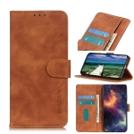 For Samsung Galaxy A03s KHAZNEH Retro Texture PU + TPU Horizontal Flip Leather Case with Holder & Card Slots & Wallet(Brown)