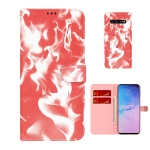 For Samsung Galaxy S10 Plus Cloud Fog Pattern Horizontal Flip Leather Case with Holder & Card Slot & Wallet(Red)