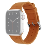 Bamboo Joint Silicone Replacement Strap Watchband For Apple Watch Series 6 & SE & 5 & 4 44mm / 3 & 2 & 1 42mm(Brown)