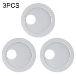 3 PCS Universal Round Shape Design WebCam Cover Camera Cover for Desktop, Laptop, Tablet, Phones(White)