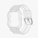 TPU Integrated Replacement Watch Case Watchband For Apple Watch Series 6 & SE & 5 & 4 44mm / 3 & 2 & 1 42mm(Transparent)