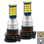 2 PCS V6 H16 DC9-36V 30W 3000LM IP65 Car LED Double Color Fog Light with 30LEDs SMD-2525 Lamp