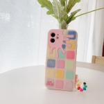Color Small Lattice Pattern Silicone Protective Case For iPhone 12 / 12 Pro(Pink)