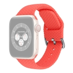 Braided Silicone Replacement Watchbands with Buckle For Apple Watch Series 6 & SE & 5 & 4 40mm / 3 & 2 & 1 38mm(Bright Pink)