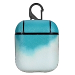 Watercolor Skin Sticking Earphone Protective Case with Hook For AirPods 1 / 2(Green)