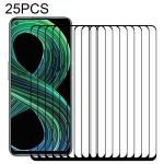 For OPPO Realme 8 5G 25 PCS Full Glue Full Screen Tempered Glass Film