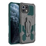 For Xiaomi Mi 11 Lite Armor Warrior Shockproof PC + TPU Protective Case(Green)