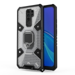 For Xiaomi Redmi 9 Space PC+TPU Ring Holder Protective Case(White)