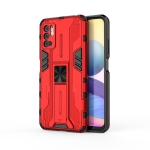 For Xiaomi Redmi Note 10 5G Supersonic PC + TPU Shock-proof Protective Case with Holder(Red)