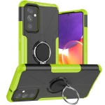 For Samsung Galaxy A82 5G Machine Armor Bear Shockproof PC + TPU Protective Case with Ring Holder(Green)