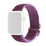 Wave Texture Nylon Replacement Watchbands For Apple Watch Series 6 & SE & 5 & 4 44mm / 3 & 2 & 1 42mm(Lilac)