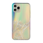 Laser Marble Pattern Clear TPU Shockproof Protective Case For iPhone 11 Pro Max(Gray)