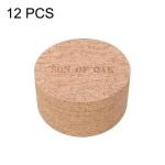 Original Xiaomi Youpin 12 PCS / Set Natural Cork Thermostatic Kitchen Insulation Cup Pads Coaster, Size: 95x95x4mm