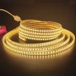 10m SMD 2835 1200 LEDs LED Strip Light, AC 220V-240V, EU Plug (Warm White)