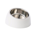 Original Xiaomi Youpin Jordan & Judy Pet Tilting 304 Stainless Steel Food Bowl (Beige White)