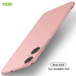 For Huawei P50 MOFI Frosted PC Ultra-thin Hard Case(Rose gold)